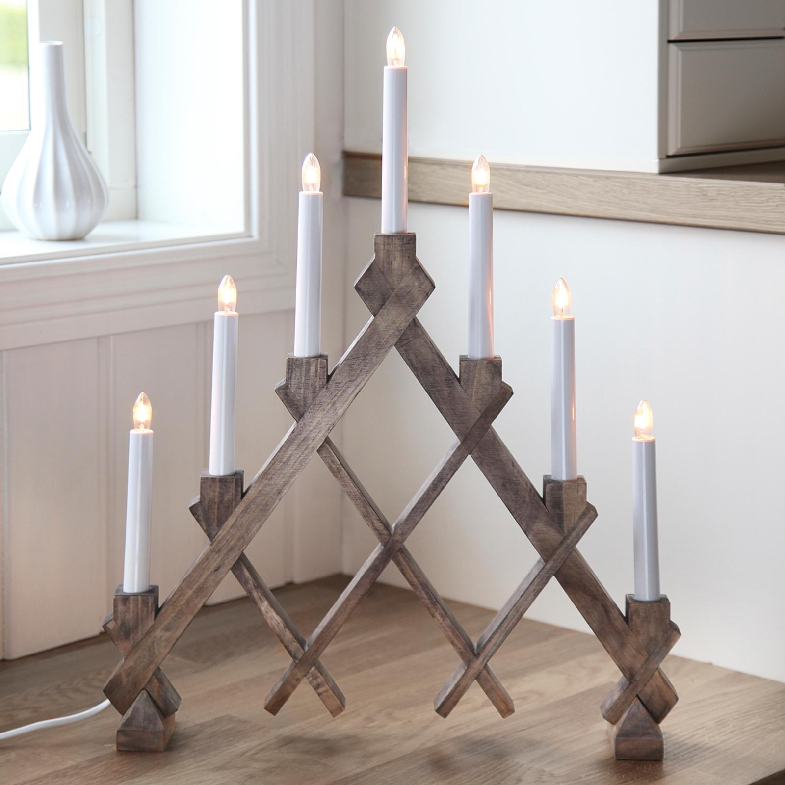 Siebenflammiger Kerzenleuchter Rut braun