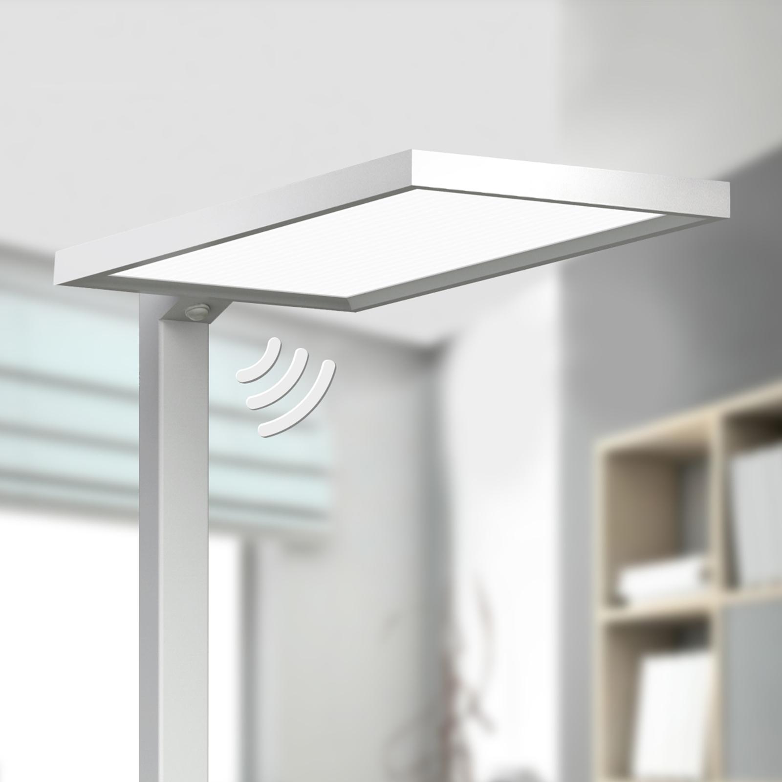 Silver LED office floor lamp Dorean_9968001_1