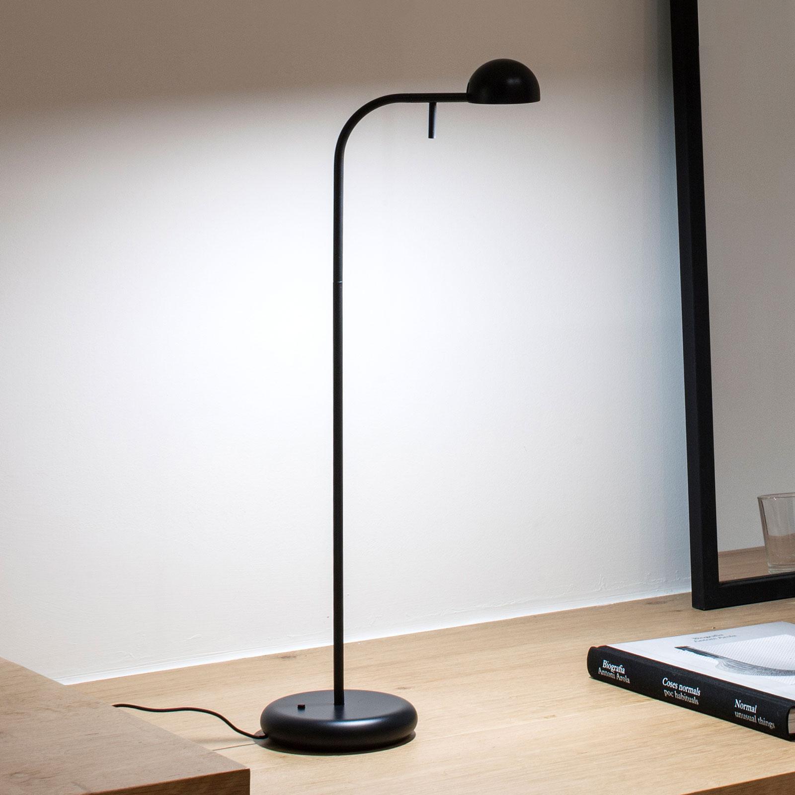 Vibia Pin 1650 LED-Tischlampe, Länge 23cm, schwarz
