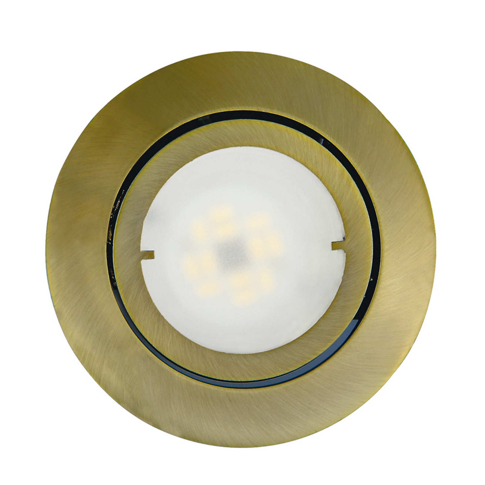 Pivotable LED recessed light Joanie, antique brass_1524112_1