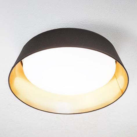 I svart og gull – rund LED-taklampe Ponts