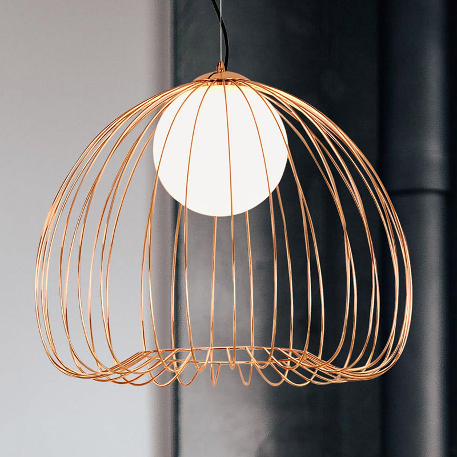 Lampa wisząca Levik ze złotą klatką Ø 38 cm