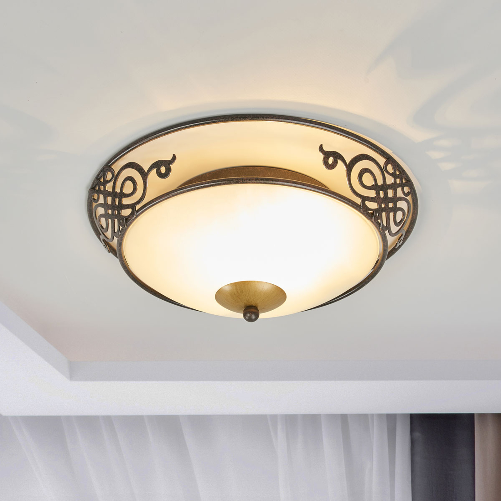 Rustykalna lampa sufitowa Master 33 cm