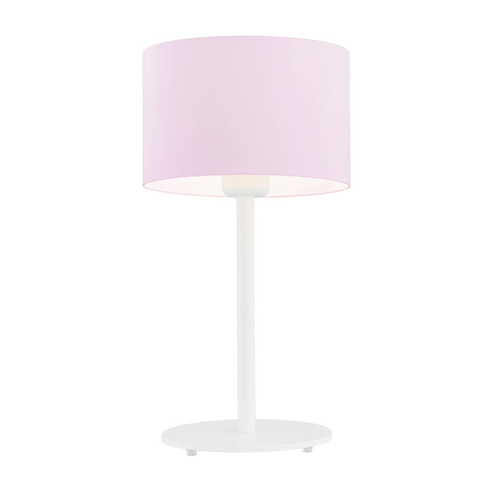 Tischleuchte Moa, Stoffschirm pink