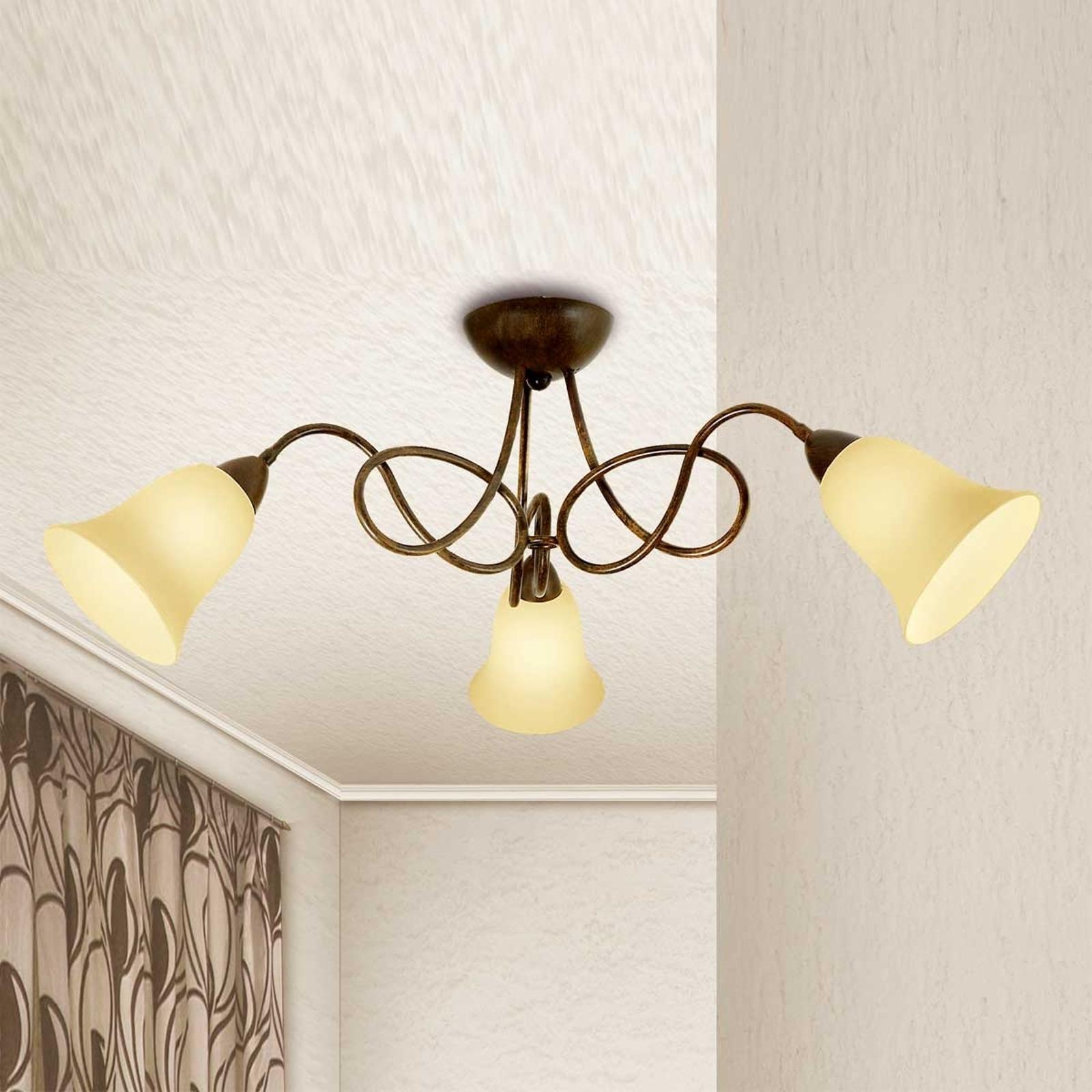 3-punktowa lampa sufitowa Michele styl dworkowy