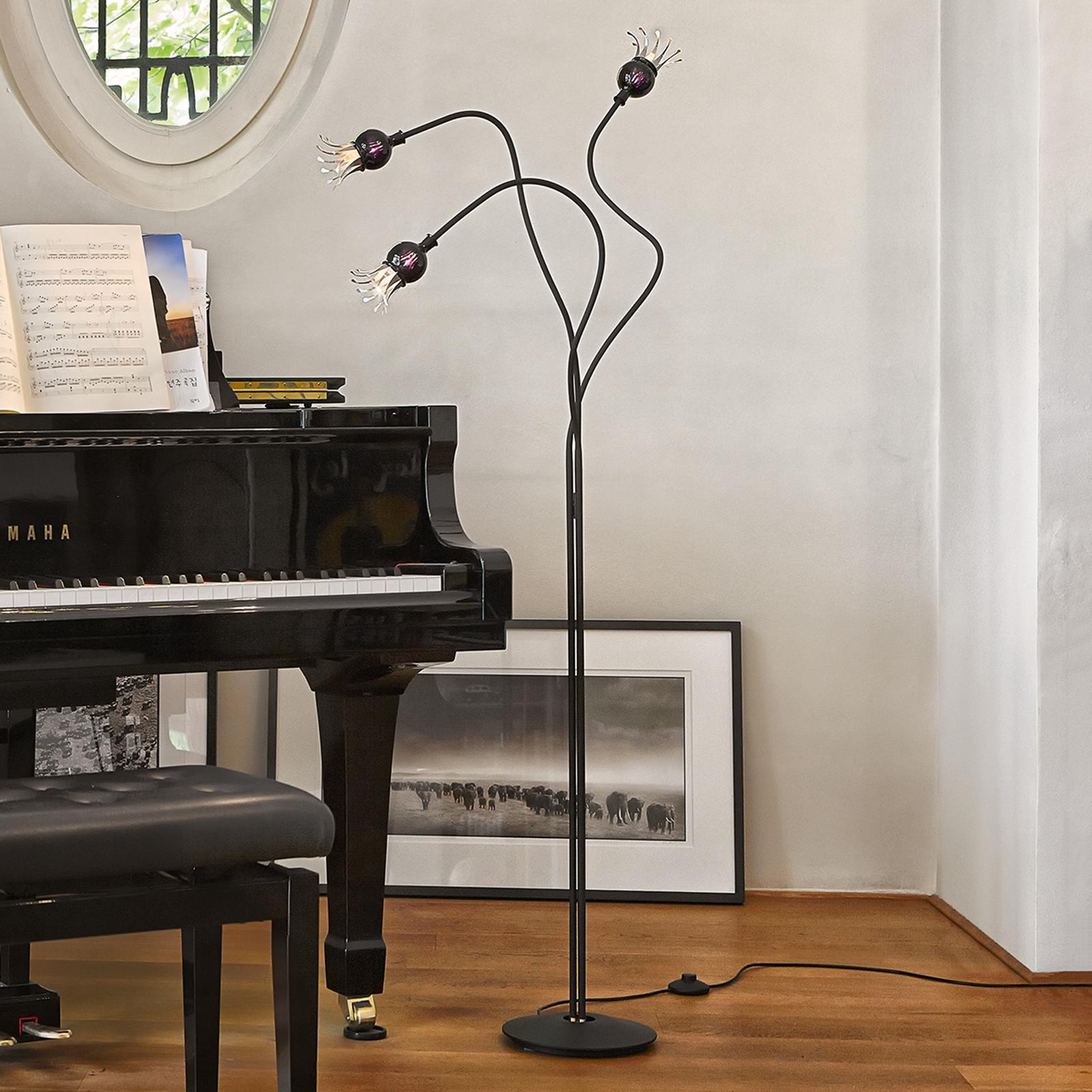 Designerska lampa stojąca Poppy