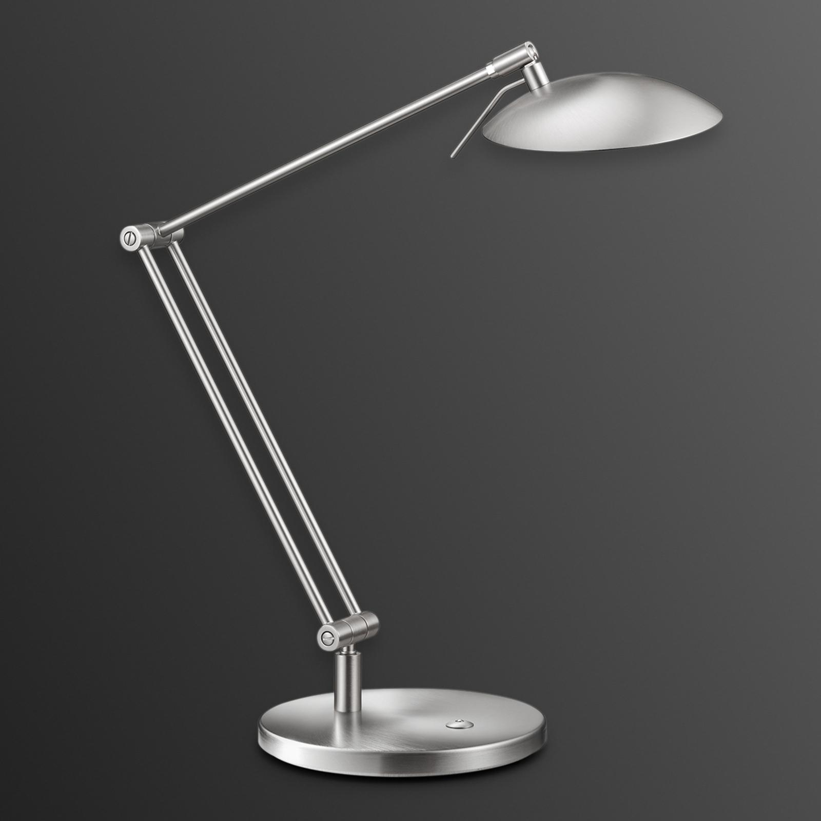 LED Schreibtischleuchte Coira, nickel matt