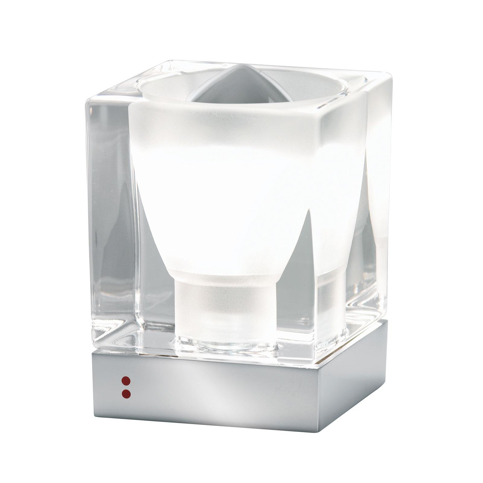 Fabbian Cubetto Tischleuchte GU10 chrom/klar
