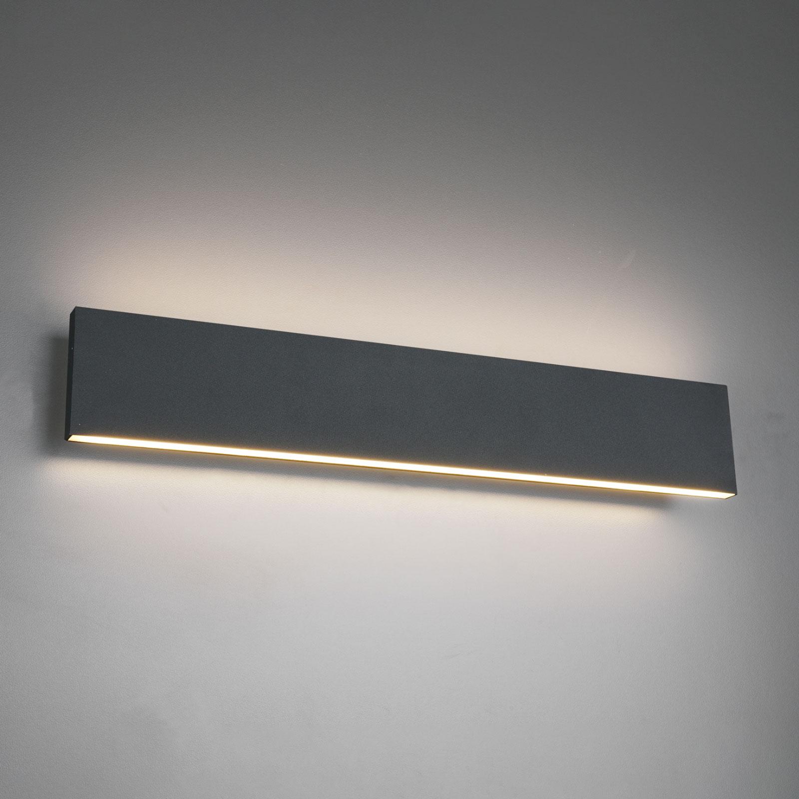 LED wandlamp Concha 47 cm, antraciet