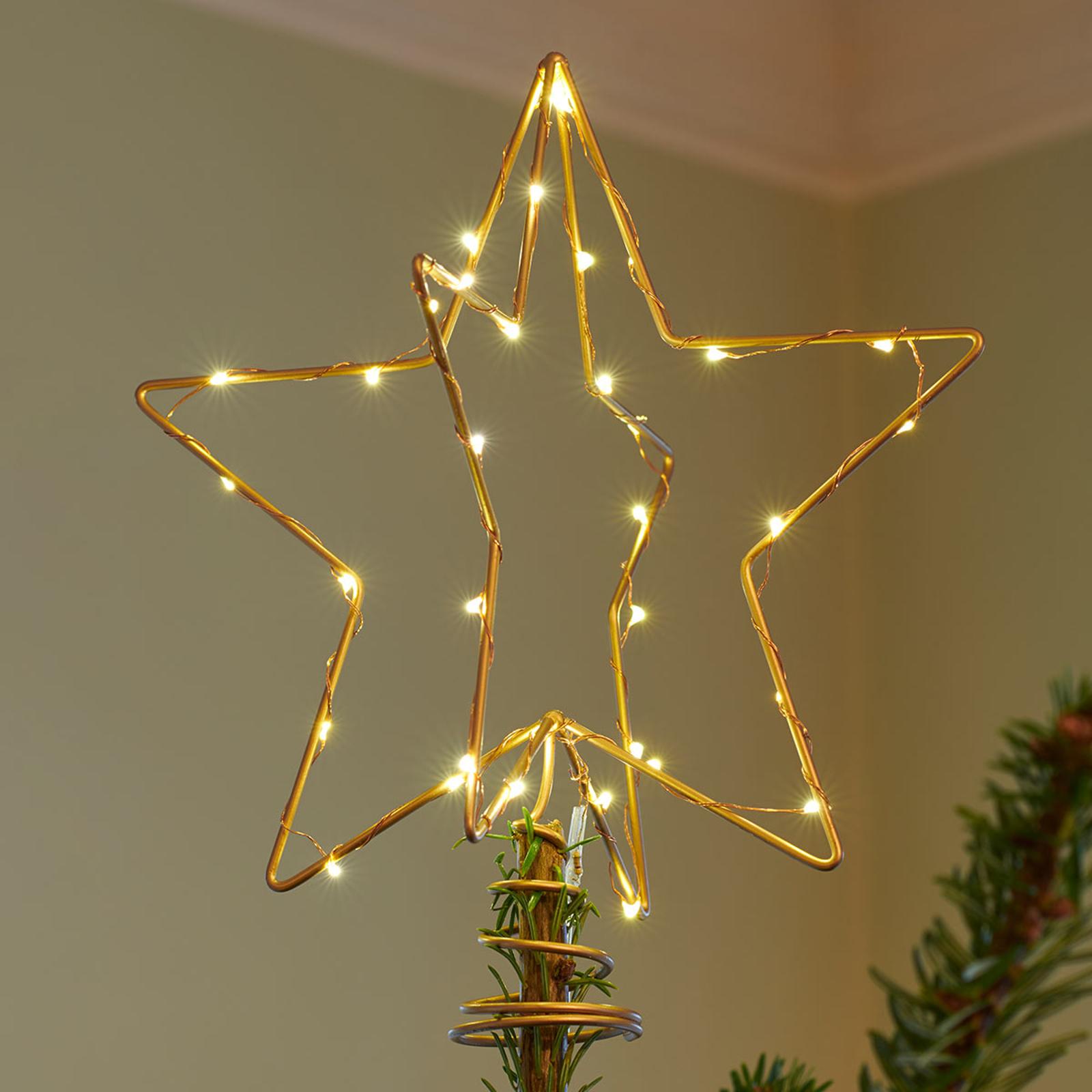 Lámpara decorativa LED Christmas Top, dorado