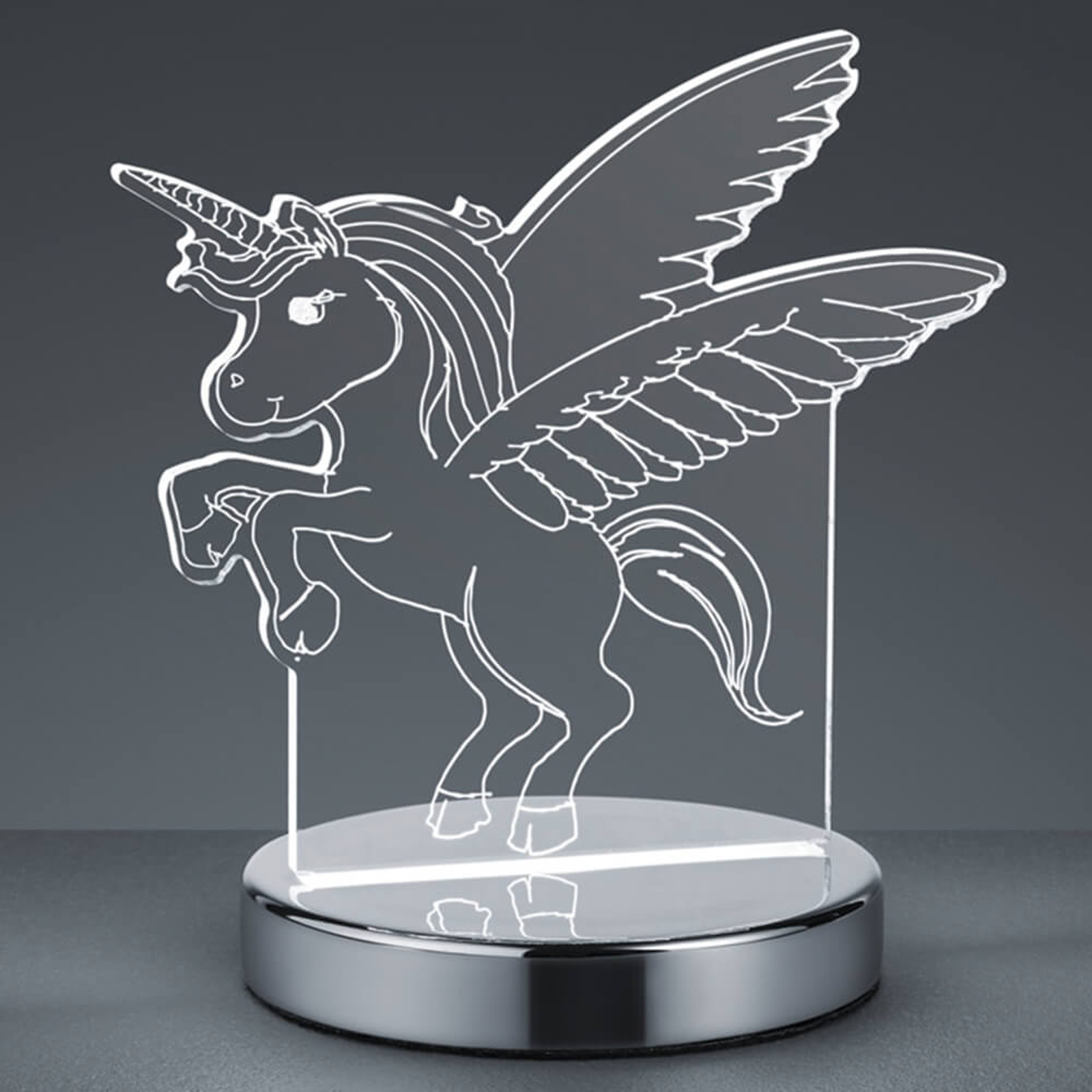3D-hologram tafellamp Karo met eenhoornmotief