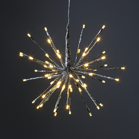 8 valovar. - LED-koristevalaisin Firework hopea