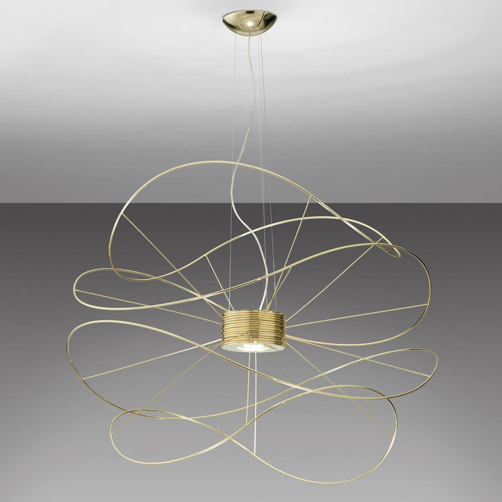 Axolight Hoops 4 LED-Pendelleuchte, gold