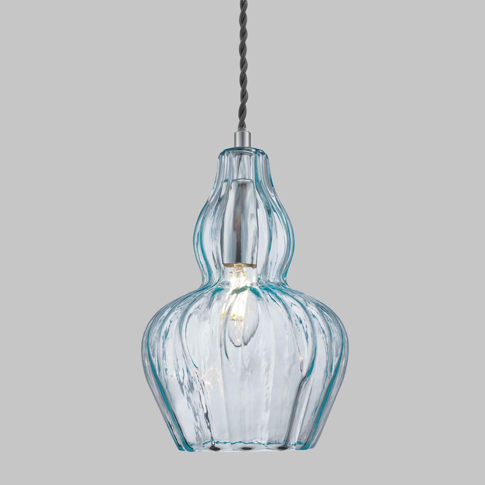 Hanglamp Eustoma lichtblauw