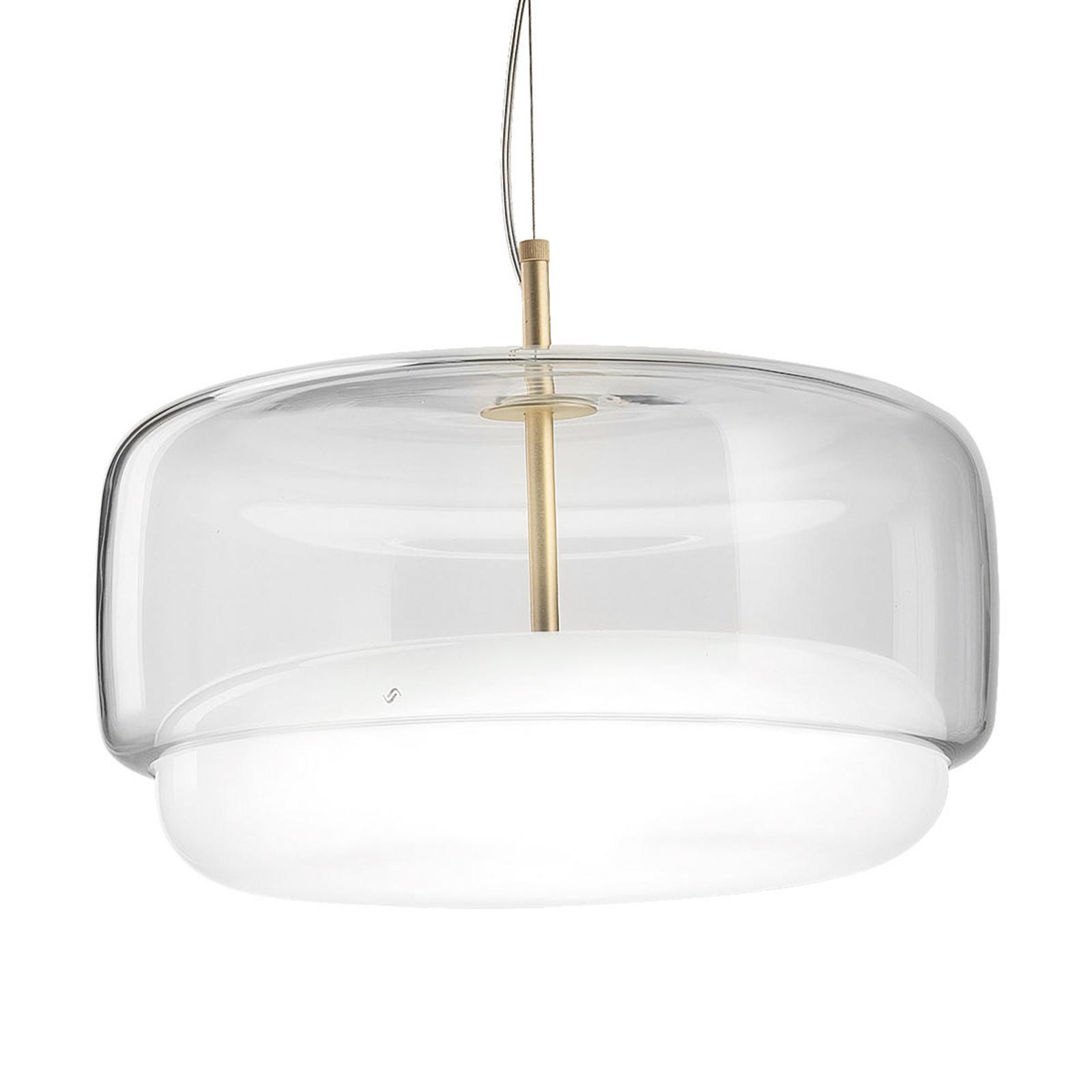 LED-Hängelampe Jube SP G aus Glas, klar/weiß