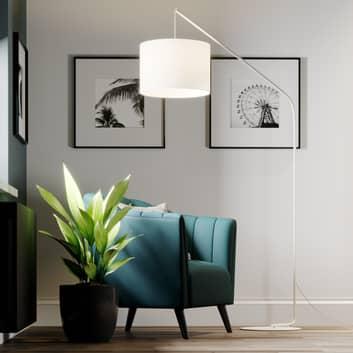 Viskan - Lampadaire cintré en blanc