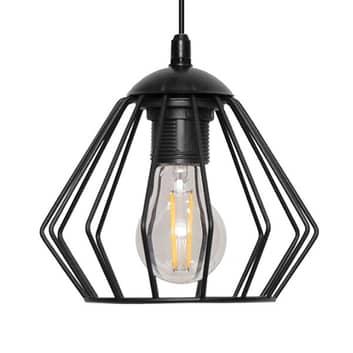 Lámpara colgante Agat negro, 1 luz