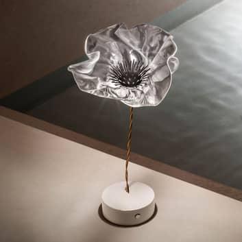 Slamp Lafleur lámpara de mesa LED, batería, prisma