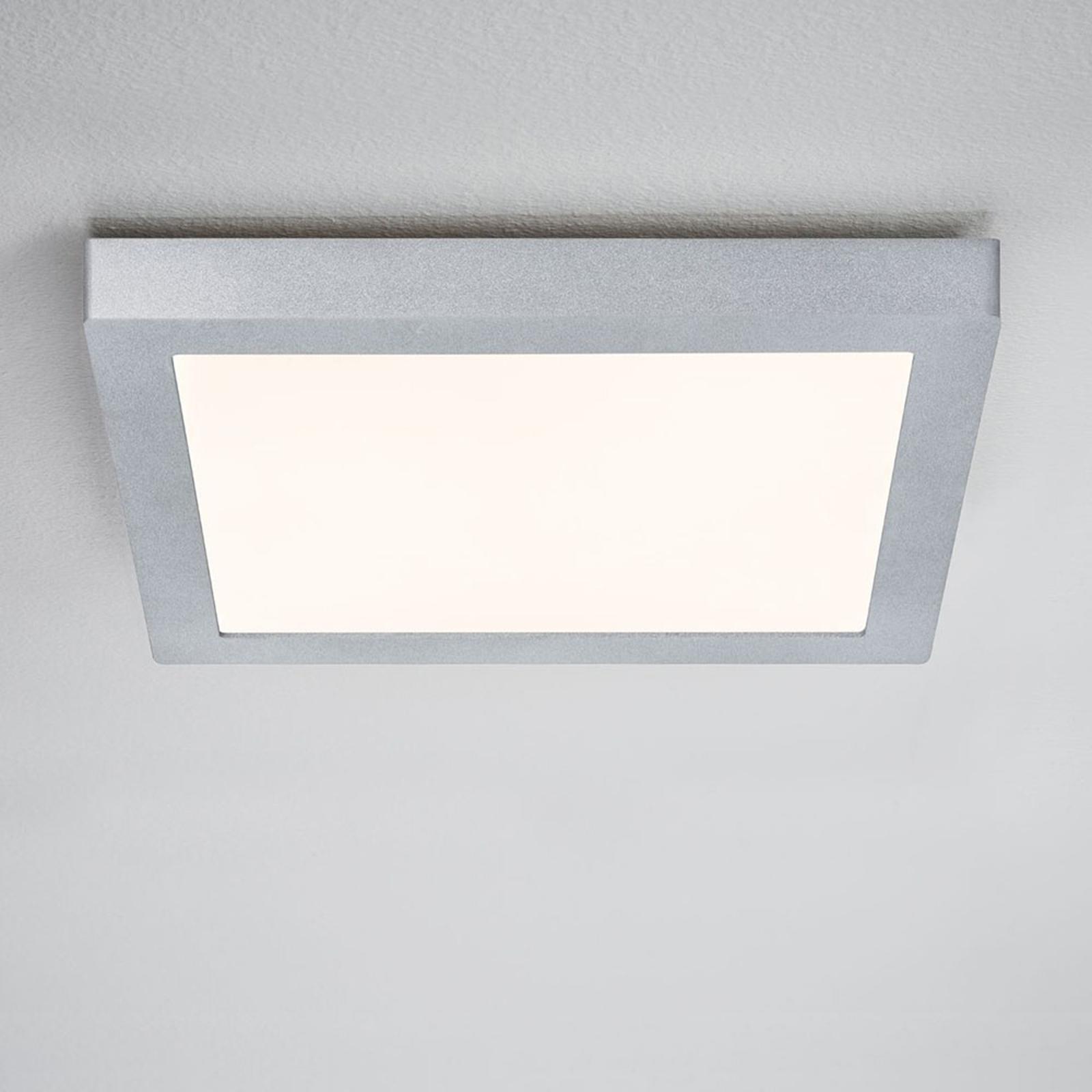 Paulmann Lunar LED-Panel, eckig, chrom, 30x30cm