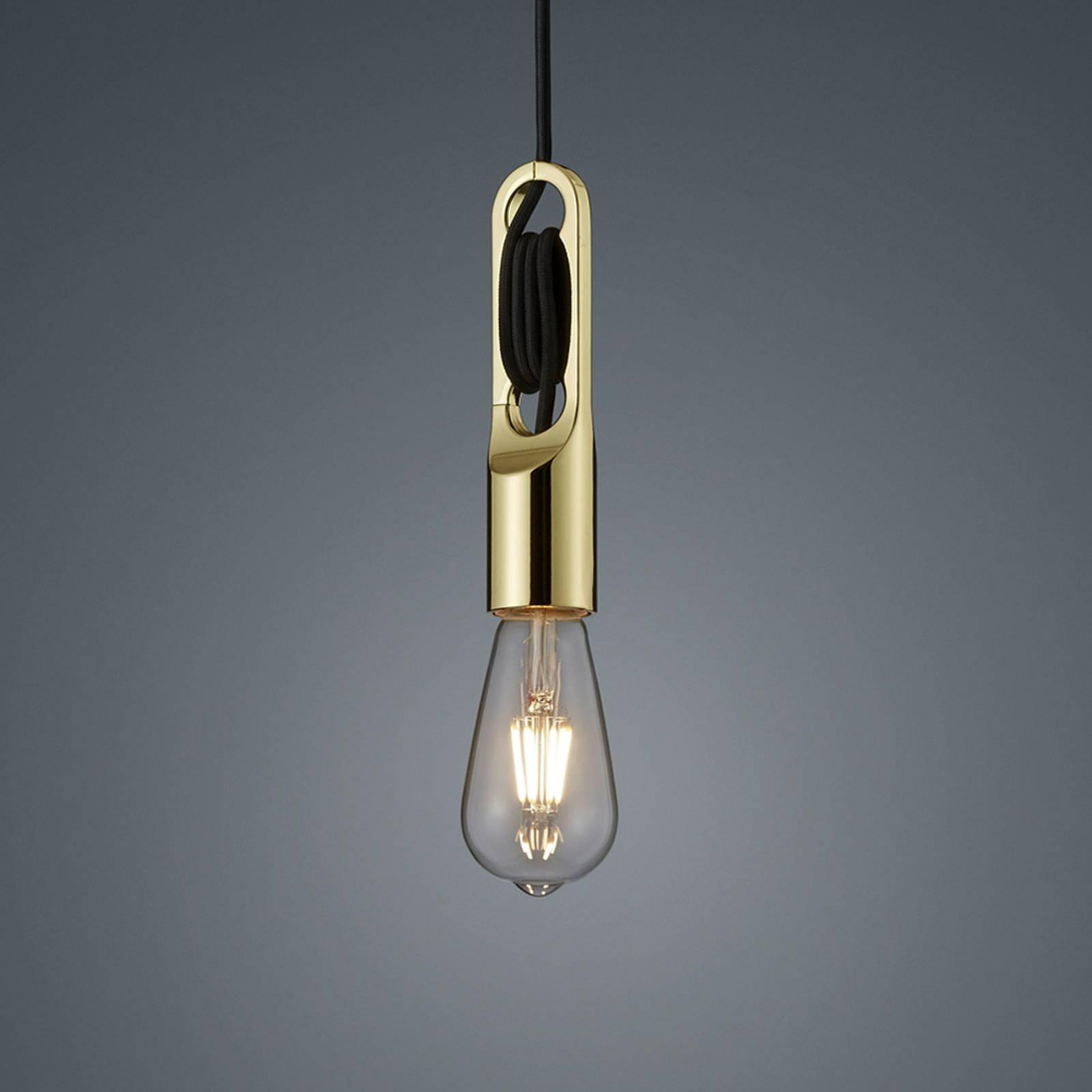 Helestra Pix lampa wisząca, mosiądz polerowany