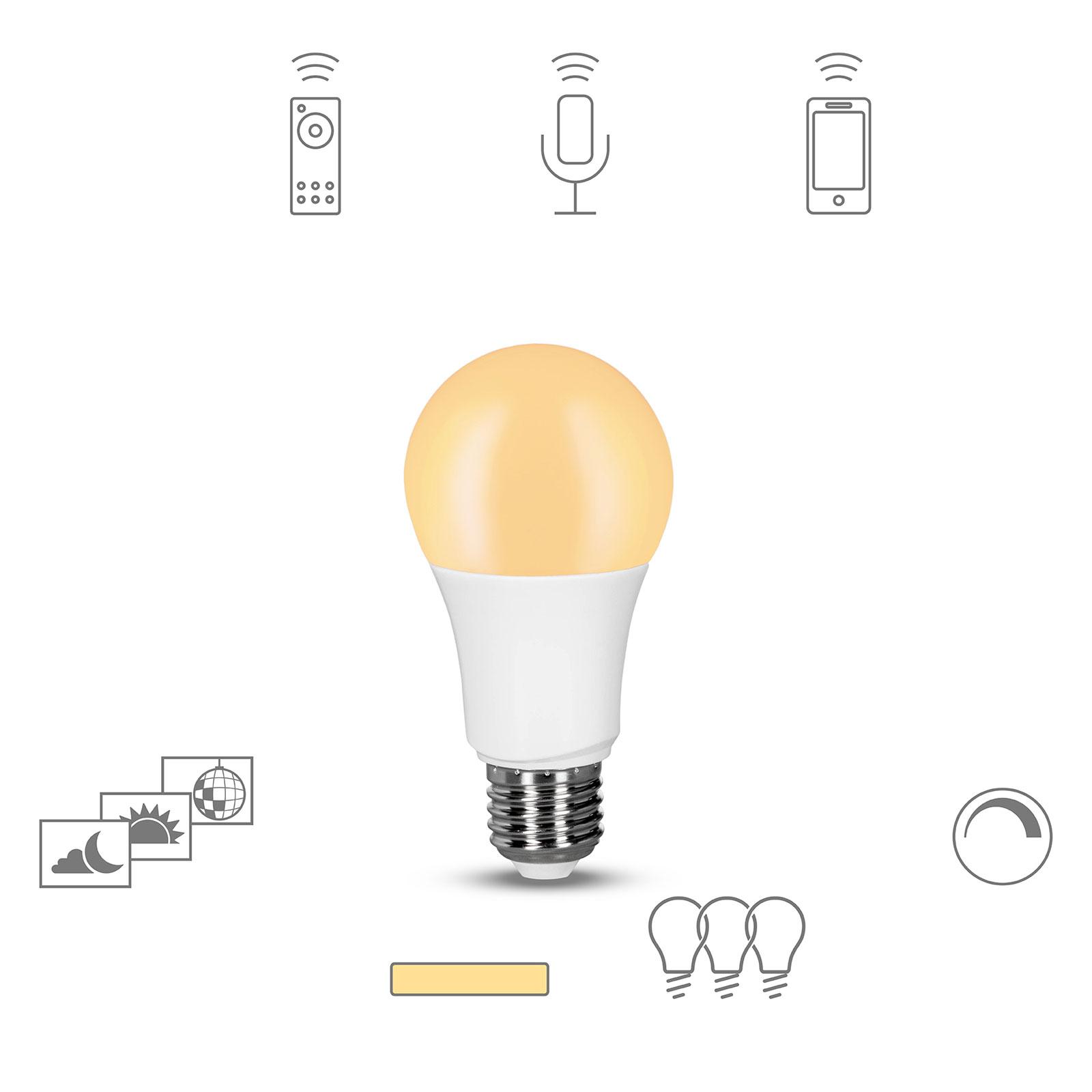 Müller licht tint dimming LED lamp E27, 9W 2.700K