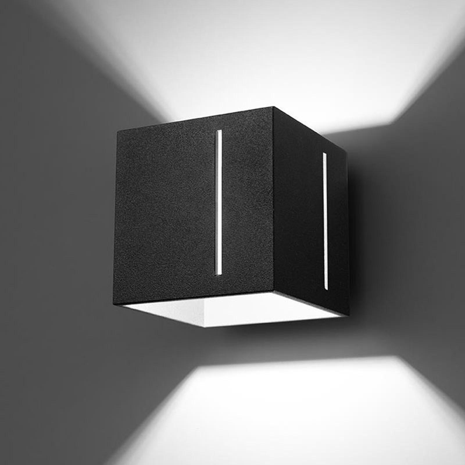 Wandleuchte Topic up/down aus Aluminium, schwarz