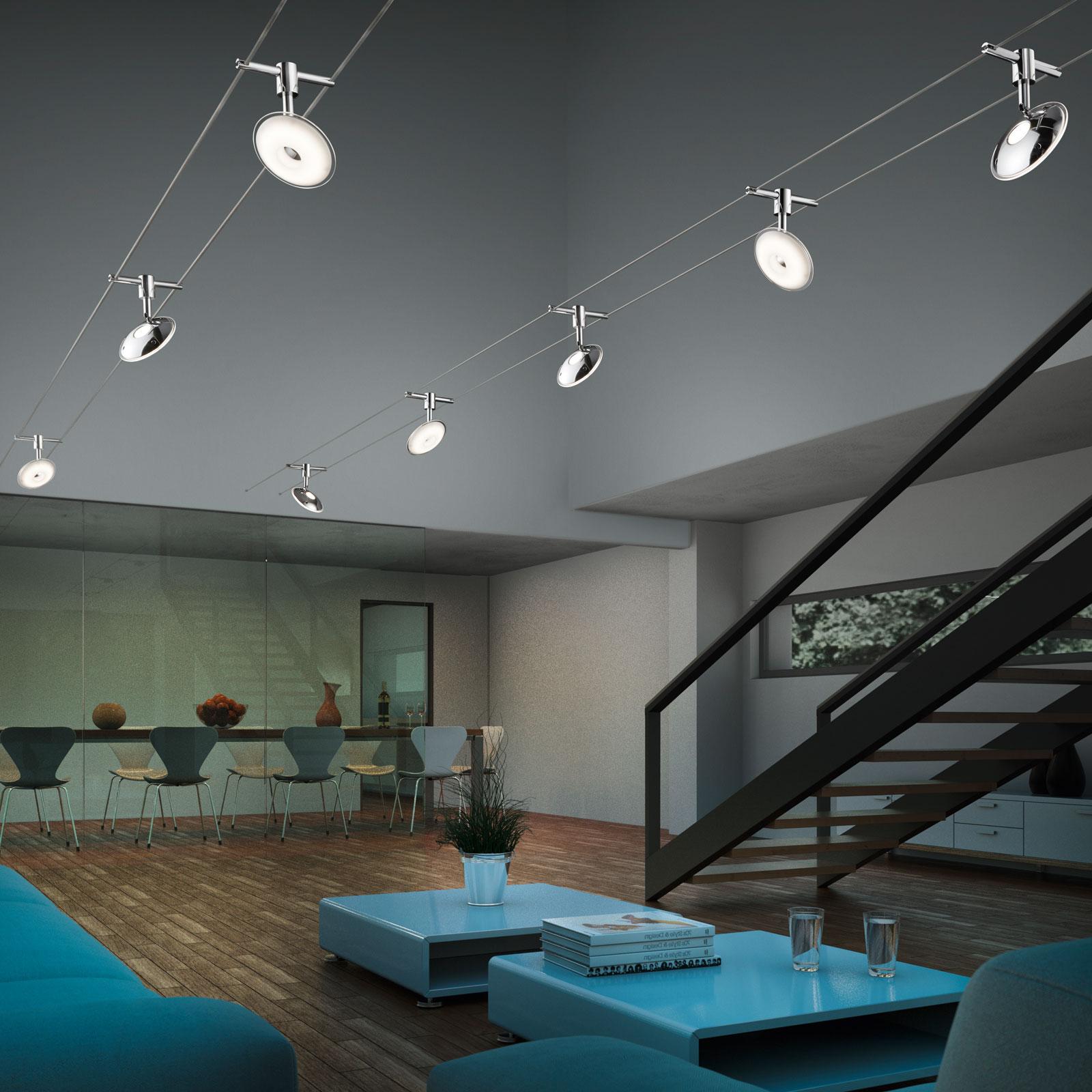 LED Deckenlampe in Chrom und Acryl#led#led_leuchten#wohnen