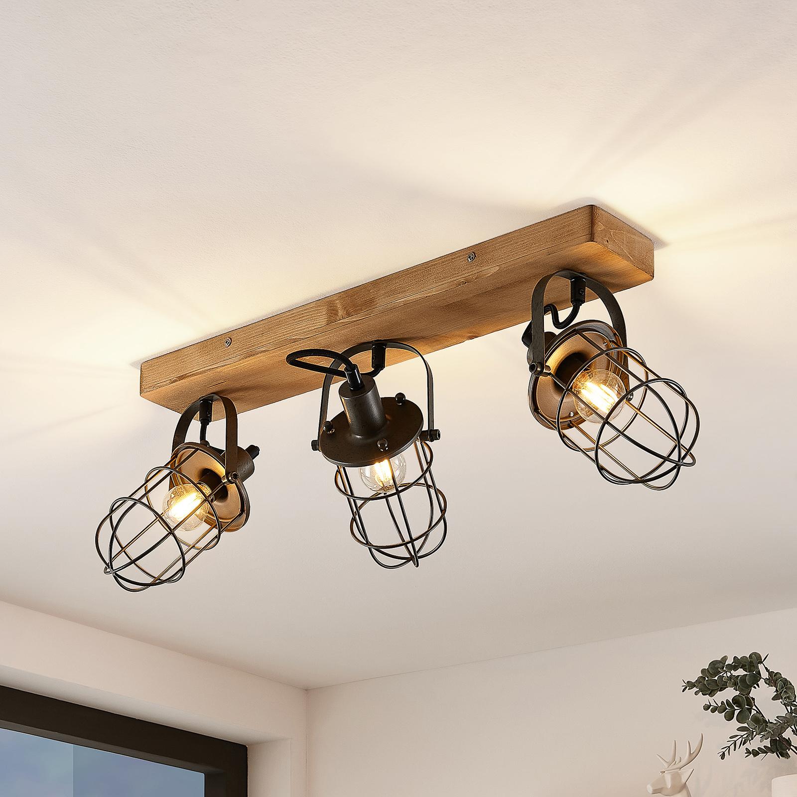 Lindby Serima Deckenlampe mit drei Käfigschirmen