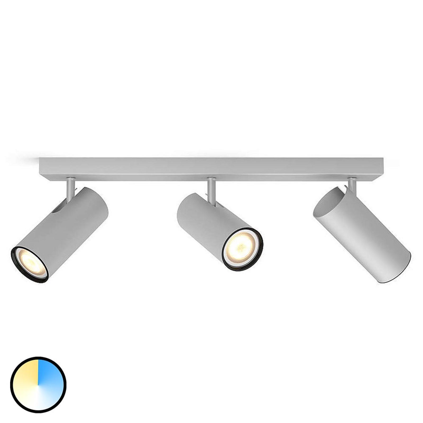Philips Hue Buratto LED-Spot alu 3fl Dimmschalter