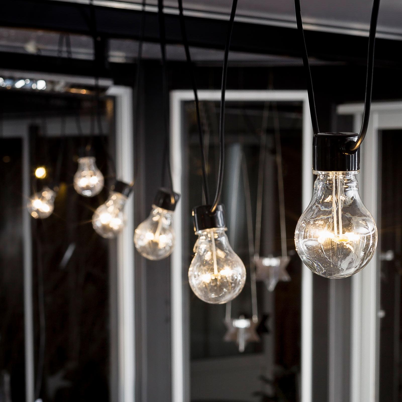 LED-Lichterkette Biergarten Erweiterung, warmweiß