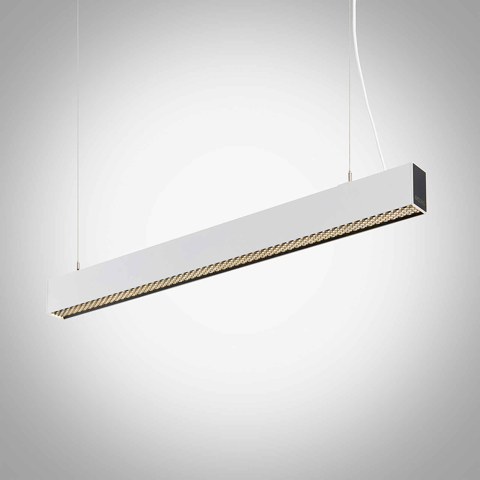 Arcchio Thores suspension bureau LED, 113cm blanc