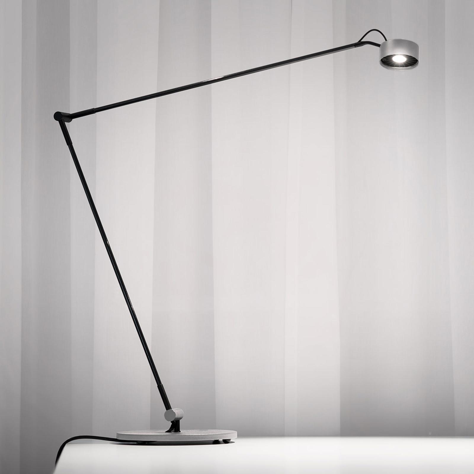 LED tafellamp Basica 930 E met dwarsarm, zilver