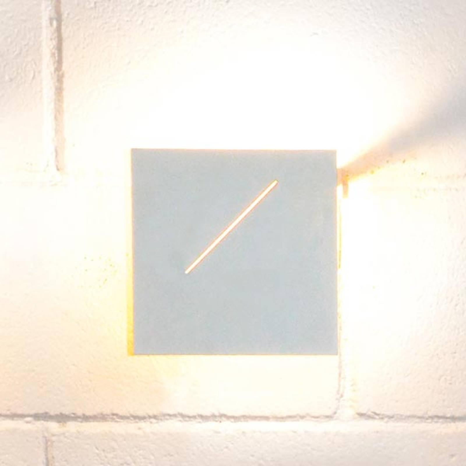 Design wandlamp Des.agn met leds, wit