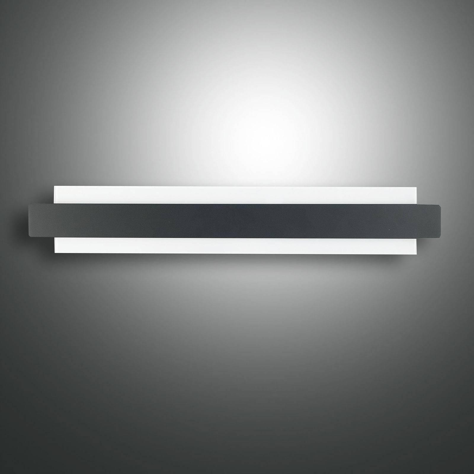LED-Wandleuchte Regolo mit Metallfront schwarz