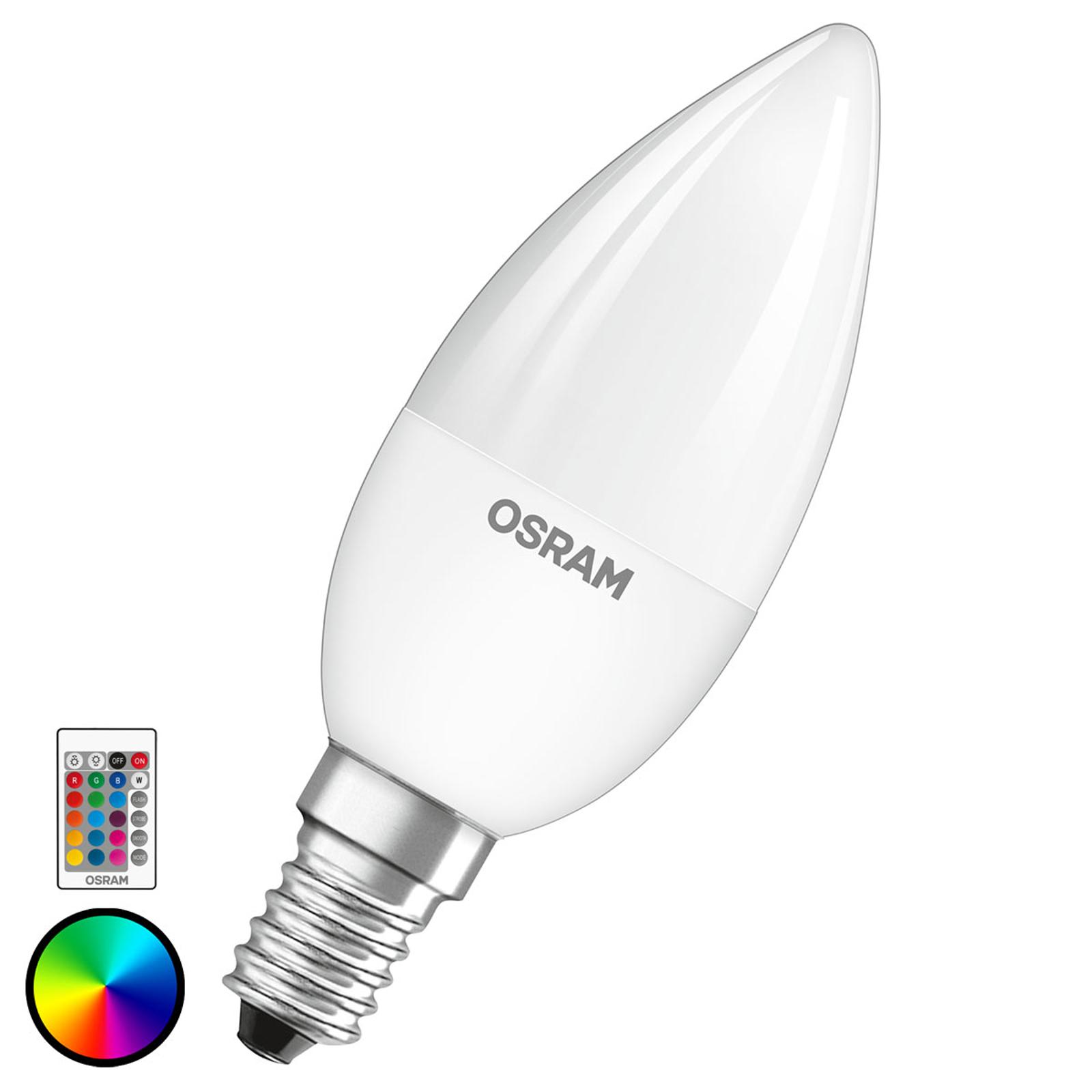 OSRAM LED-Lampe E14 4,5W Star+ Kerze matt Remote