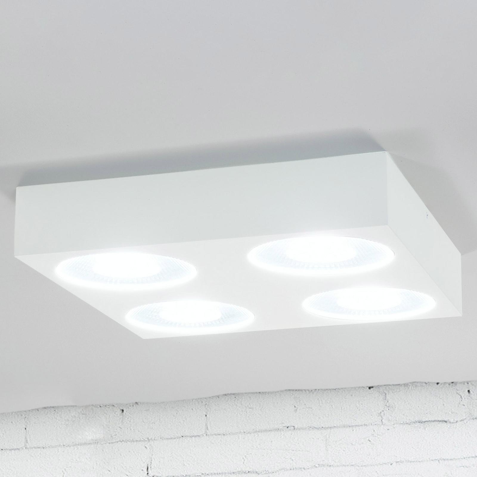 Quadratische LED-Easydim-Deckenleuchte Sonja