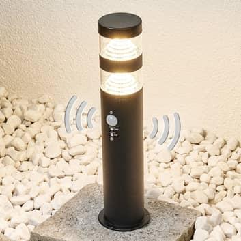 Lampa cokołowa LED LANEA z czujnikiem, stal