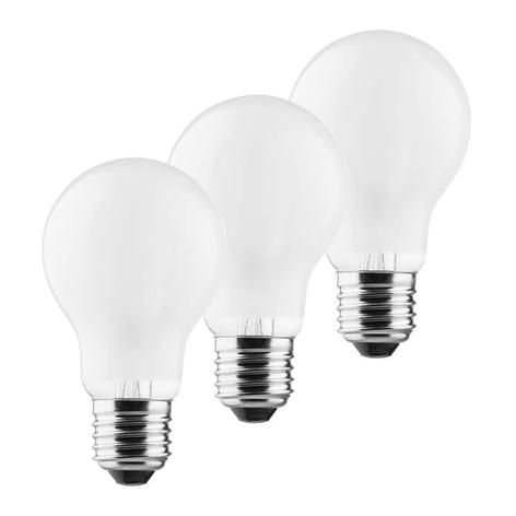 LED lamp E27 A60 Retro 4W 2.700K mat 3 per set
