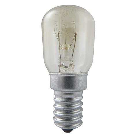 E14 25W bombilla de nevera, transp., blanco cálido