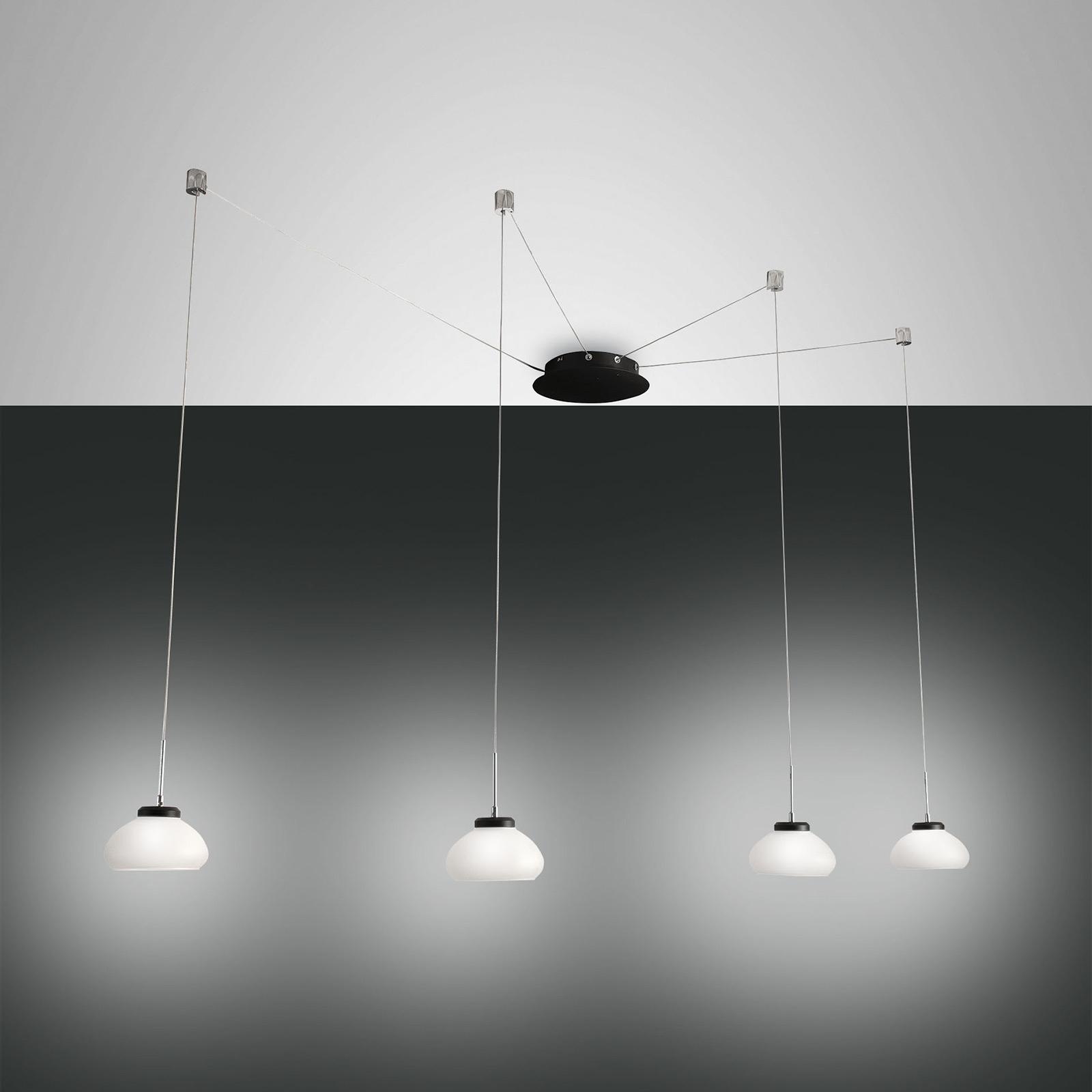 Lampa wisząca Arabella decentralna, 4-pkt. biała