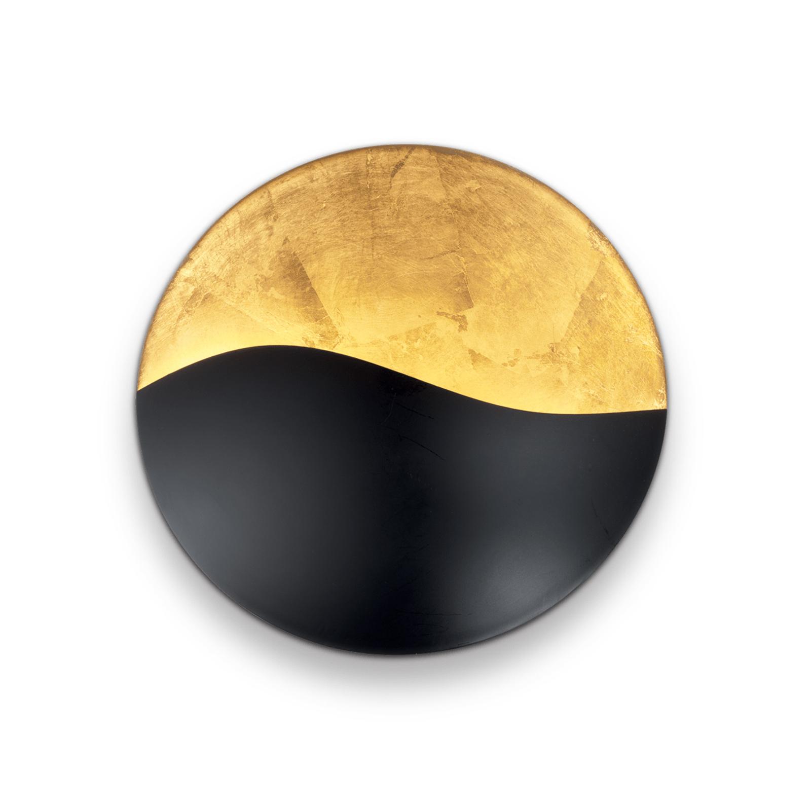 Wandlamp Sunrise G9, zwart / goud, Ø 27,5 cm