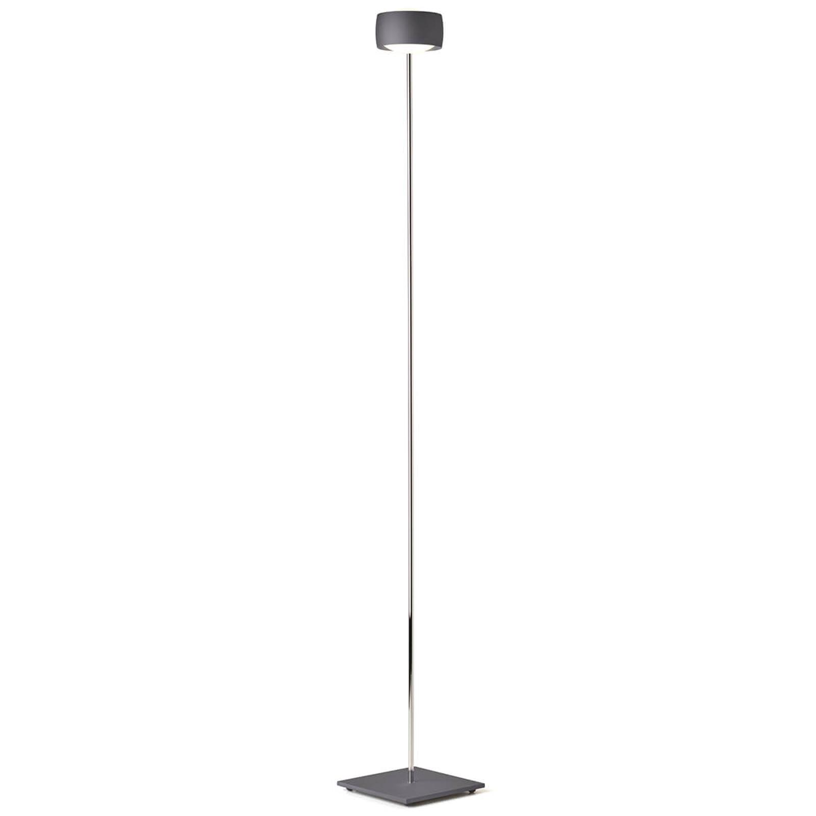 Lampa stojąca LED Grace sterowana gestami, szara