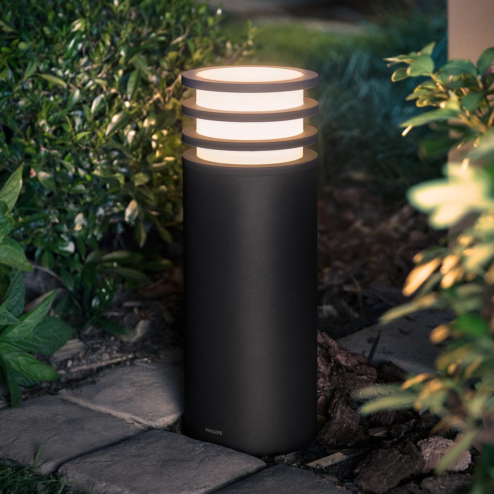 Philips Hue potelet LED Lucca, commande par appli