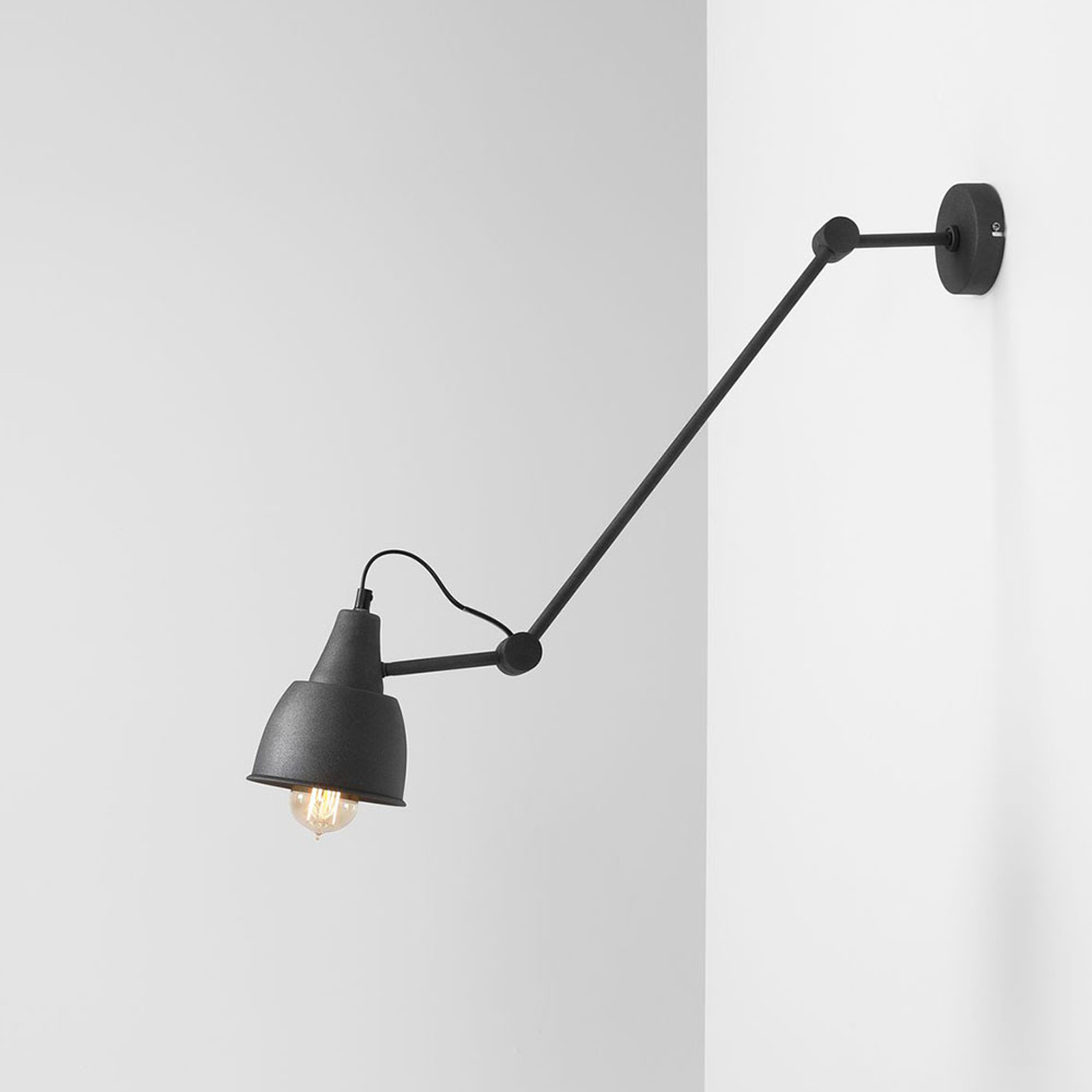 Wandlamp 814, verstelbaar, 1-lamp, grafiet