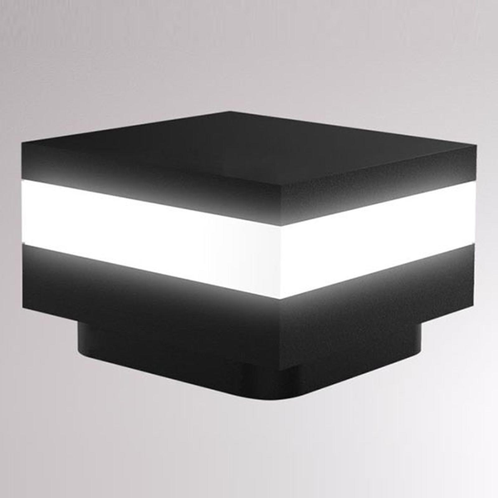 LOUM Mash LED-Sockelleuchte IP65 schwarz
