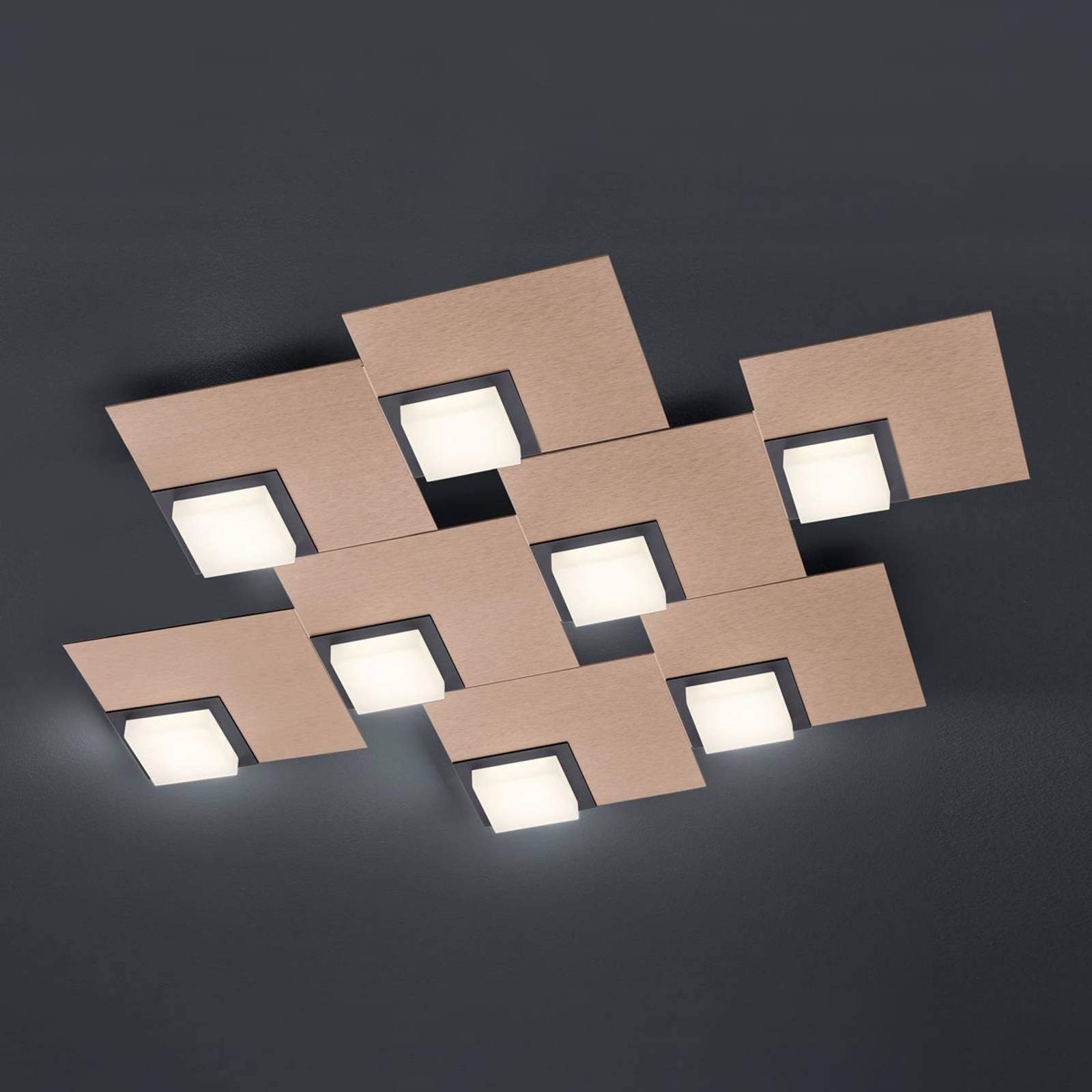 BANKAMP Quadro LED-plafondlamp 64 W , rosé goud