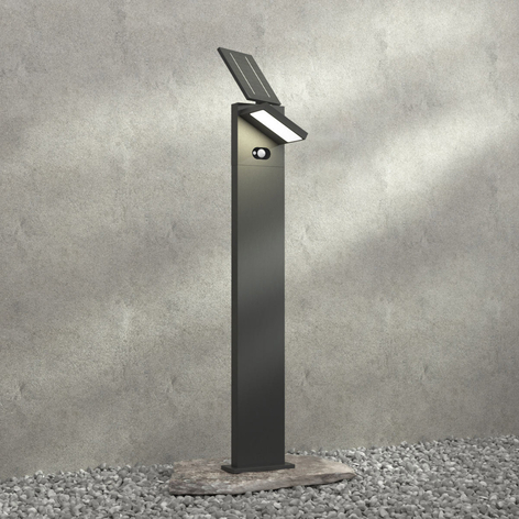LED wandlamp Silvan, zonne-energie, sensor, 100 cm