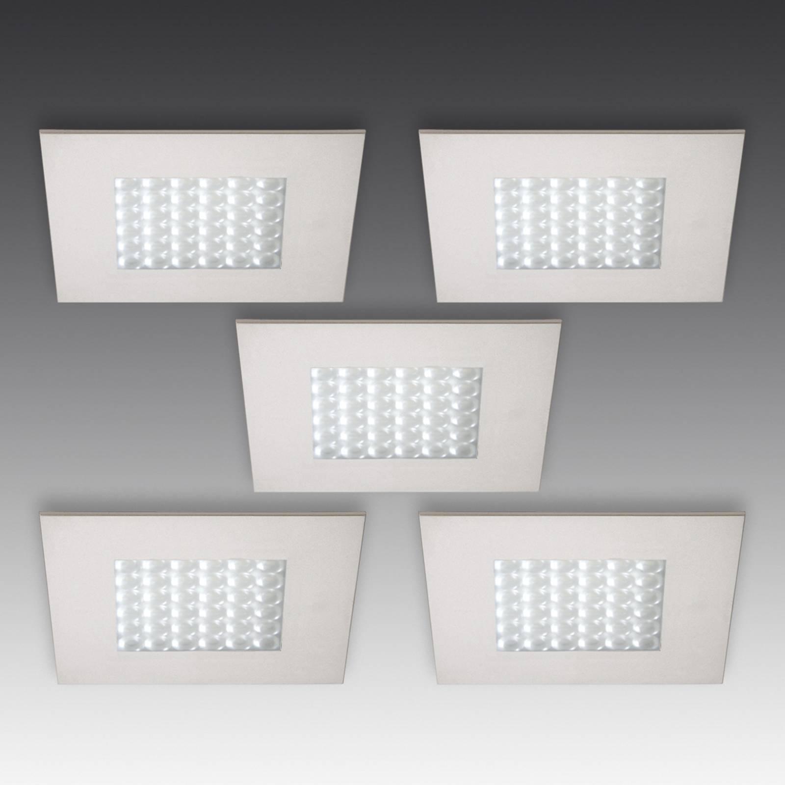 Q 68 LED inbouwspot in RVS optiek, 5/set