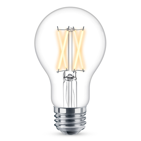 WiZ E27 LED A60 filamento claro 6,5W 2.200-5.500K