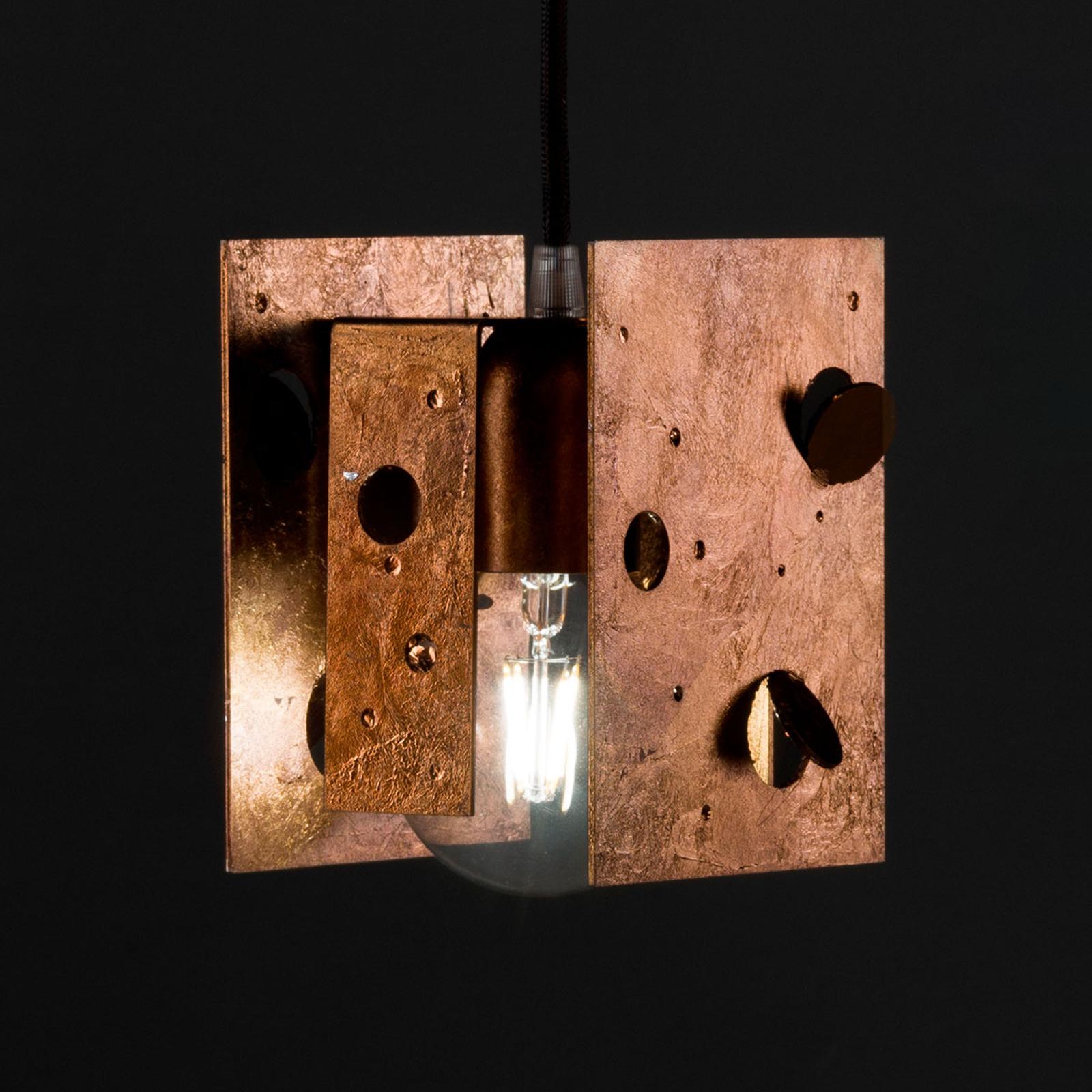 Knikerboker Buchi hanglamp 13x11x16,5 koper